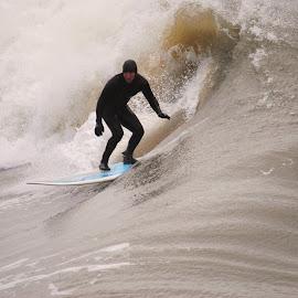 Big Surf by Prentiss Findlay - Sports & Fitness Surfing ( surfing, wave, ocean, beach, surf )