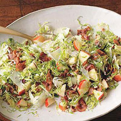 Brussels Sprouts Salad with Apples, Pecans and Manchego