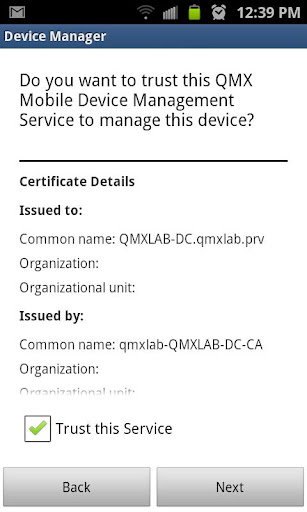 QMX Device Manager
