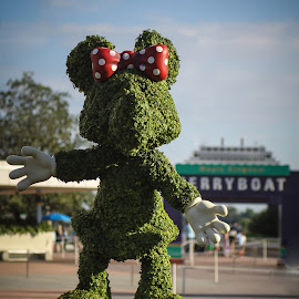 Minnie welcomes all to the Happiest Place on Earth by Teresa Cerbolles - Novices Only Flowers & Plants