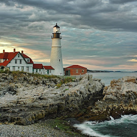 Portland Head Lighthouse Maine by Bud Schrader - Buildings & Architecture Public & Historical