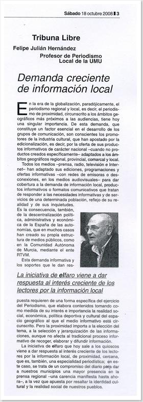 Artículo en El Faro