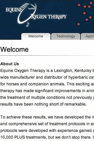 Equine Oxygen Therapy