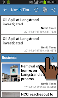 Screenshot of Namibia Newspapers