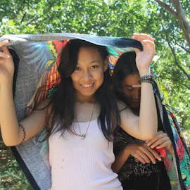 Sun is hot by Twin Amarante - People Fashion ( bath, hot, summer, sun, river,  )
