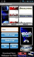 Screenshot of Graffiti Tag Wallpaper Maker