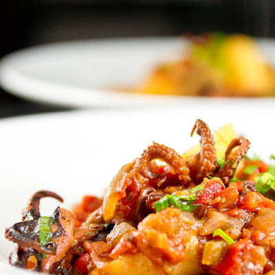 Baby Octopus in Tomato Sauce