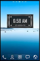 Screenshot of Silver Alarm Clock Widget