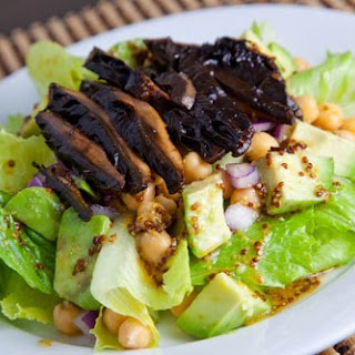 Roasted Portobello Mushroom Salad with Honey Dijon Dressing