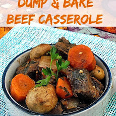 DUMP AND BAKE BEEF CASSEROLE {LOW-FAT}