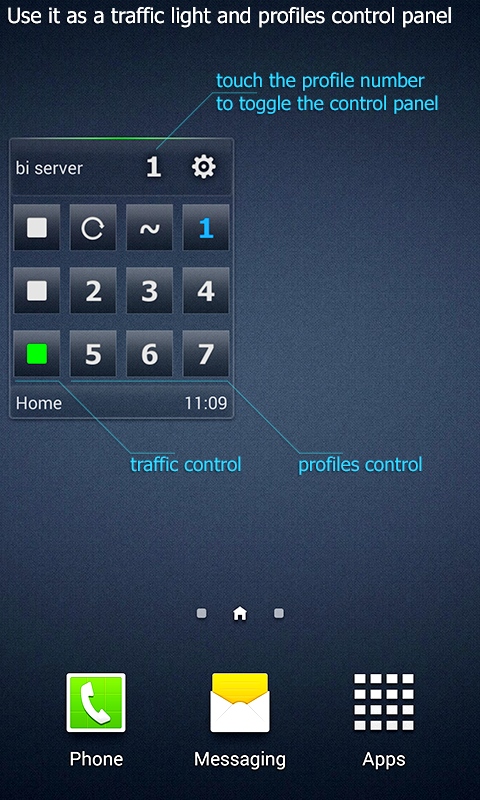 Blue Iris Widget Screenshot 1