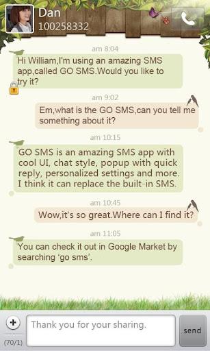 GO短信春天主题