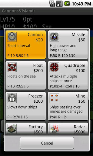 cannonsislands for android screenshot