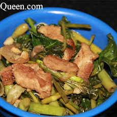 Adobong Kangkong at Sitaw (Water Spinach Adobo with Yard Long Beans)