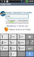 Screenshot of Pocket Cal/kJ