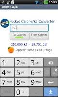 Screenshot of Pocket Cal/kJ