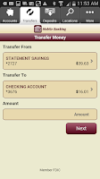 Screenshot of Hingham Savings Mobile Banking