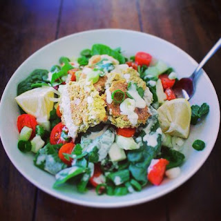 Falafel Salad & Lemon Tahini Dressing