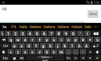 Screenshot of Italian dictionary (Italiano)