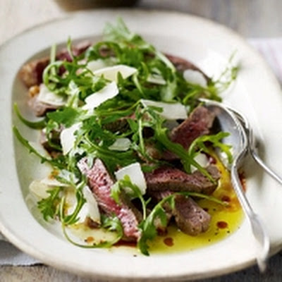 Heston's Tagliata with rocket and Parmesan salad