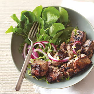 Caramelized Beef with Onions & Watercress
