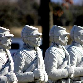 by Leah Zisserson - Buildings & Architecture Statues & Monuments ( sculpture, soldiers, garden art, civil war )