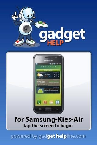 Samsung Kies-Air Gadget Help