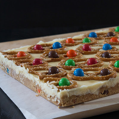 White Chocolate Cheesecake Pretzel Bars