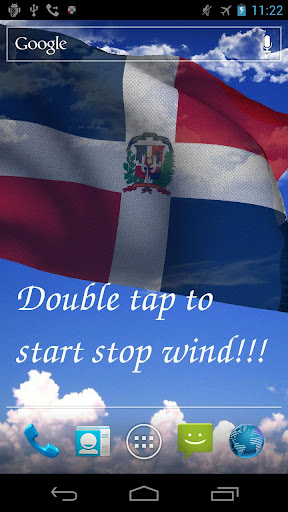 3D Dominican Flag LWP +