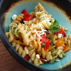 Sweet Pepper Pasta Toss