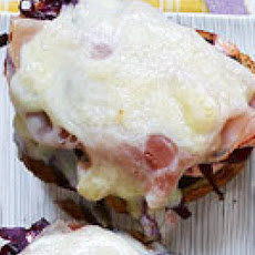 Open-Face Reubens with Red Cabbage Slaw