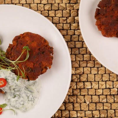 Tandoori Salmon Cakes With Raita CBC Best Recipes Ever