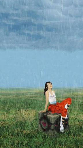 Chell in the Rain