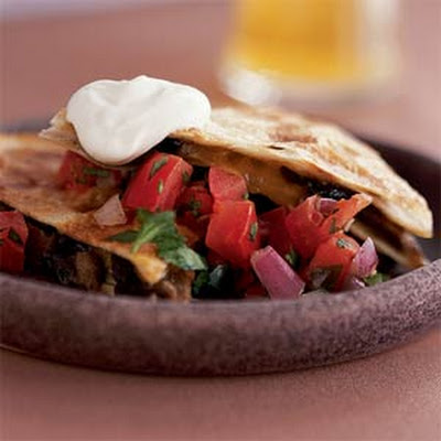 Portobello Quesadillas with Pico de Gallo