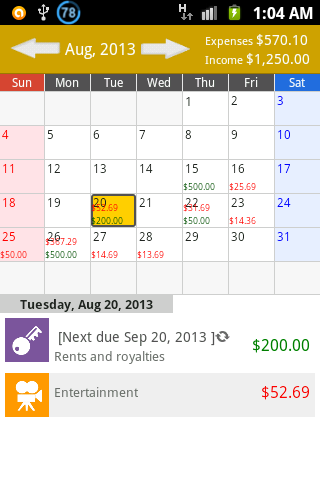 Budget: Expense Tracker - screenshot