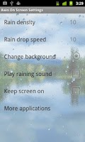 Screenshot of Rain On Screen (free)