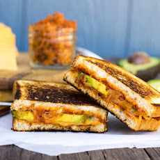 Bacon & Tomato Jam Grilled Cheese with Avocado