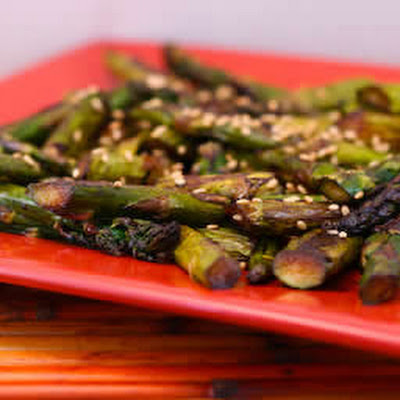 Roasted Asparagus with Sesame-Soy Flavors