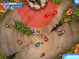 Screenshot of Ant Farm. Funny forest life.