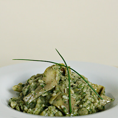 Artichoke Risotto with Lemon-Herb Pesto