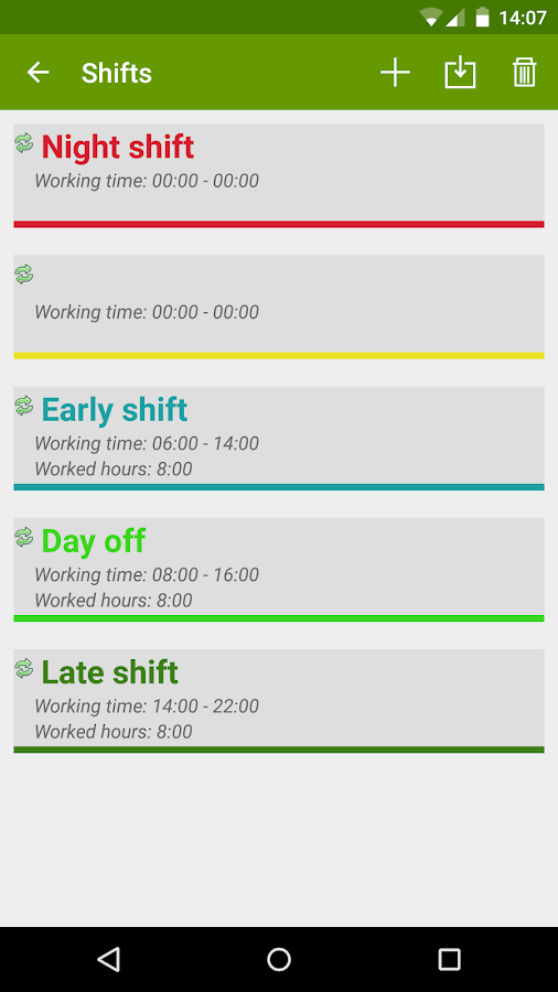 FlexR Pro (Shift planner) Screenshot 2
