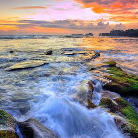 Sunset of Mengening by Rashid Ramdan - Landscapes Sunsets & Sunrises ( bali, waterscape, indonesia, sunset, travel, landscape )
