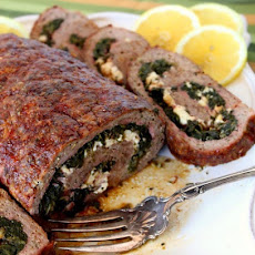 ROLLED GREEK MEATLOAF   {PRINT THIS RECIPE}