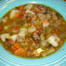 Hearty Ground Beef Vegetable Soup
