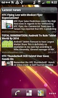 Screenshot of Pure news widget (scrollable)