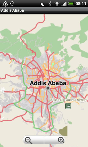 Addis Ababa Street Map
