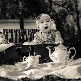 tea party by Vesna Lavrnja - Black & White Portraits & People