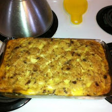 Raisin-Eggnog Bread Pudding
