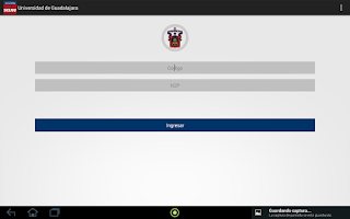Screenshot of horarioUdg Beta