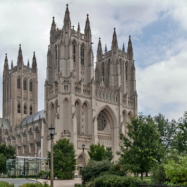 Washington Cathedral by Réjean Côté - Buildings & Architecture Places of Worship ( dark vader, ghotic, cathedral, washington dc, usa )